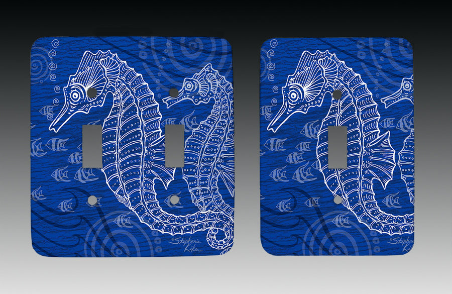 Seahorses One Color Light Switch Cover