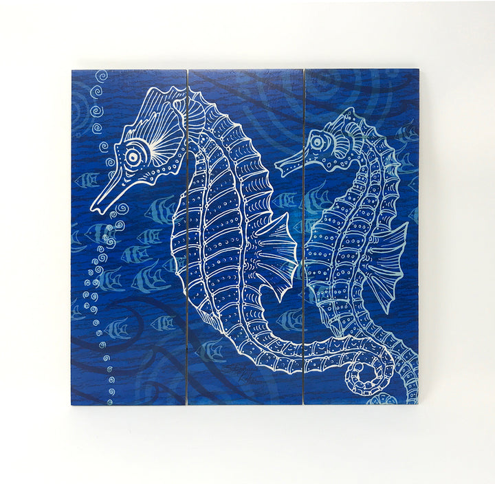 Seahorses One Color Wall Art
