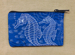 Seahorses One Color Coin Bag