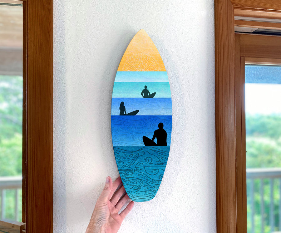 Serenity Surfboard Wall Art