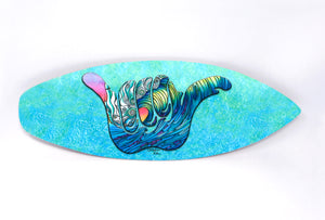 Shaka Wave Surfboard Wall Art