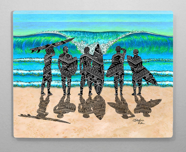 Surf Check Aluminum Wall Art