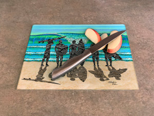 Surf Check Cutting Board
