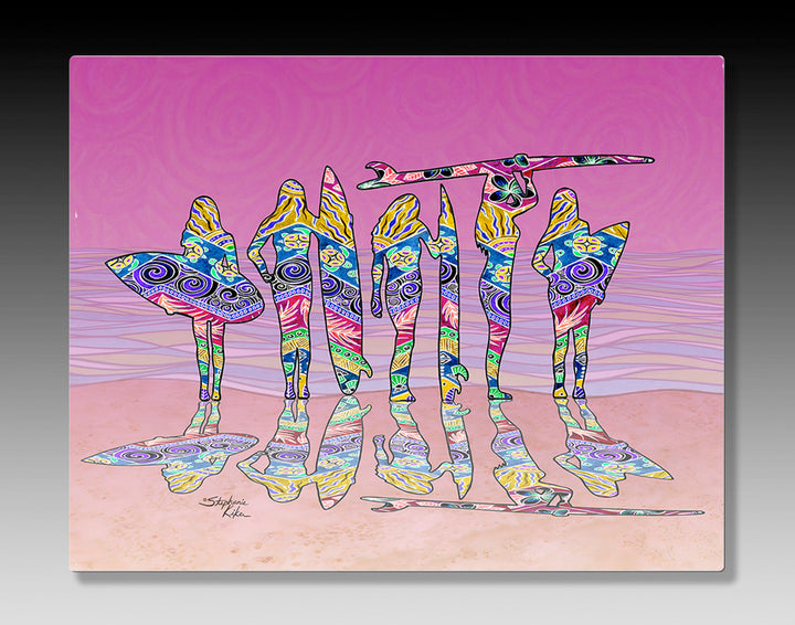 Surf Sisters Aluminum Wall Art