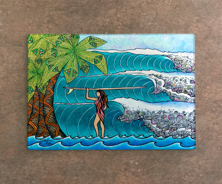 Surfer Girl Cutting Board