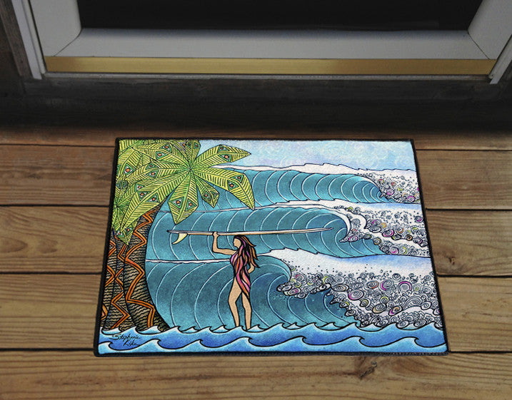 Surfer Girl Door Mat