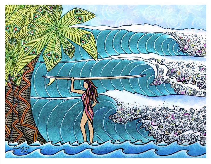 Surfer Girl Print