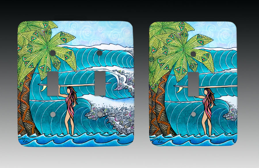 Surfer Girl Light Switch Cover