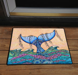 Tails of the Sea Door Mat