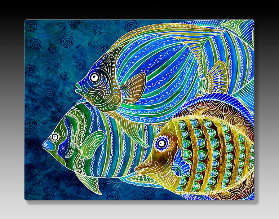 Fish School Aluminum Wall Art