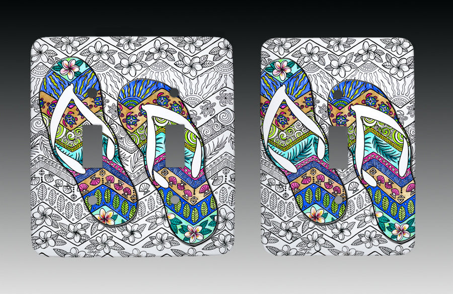 Tropical Flip Flops Light Switch Cover