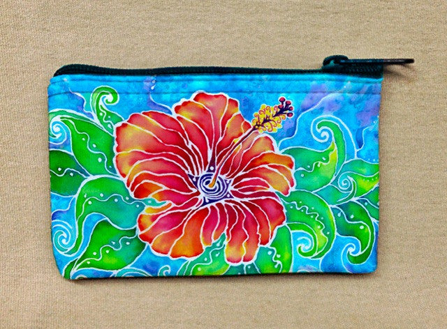 Tropical Hibiscus Coin Bag