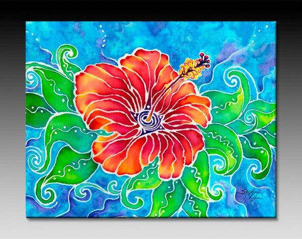 Tropical Hibiscus Ceramic Tile