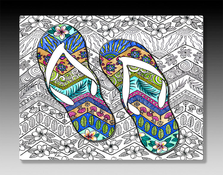Tropical Flip Flops Wall Art