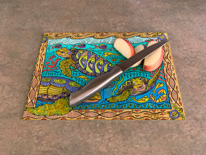 Turtle Time Cutting Board