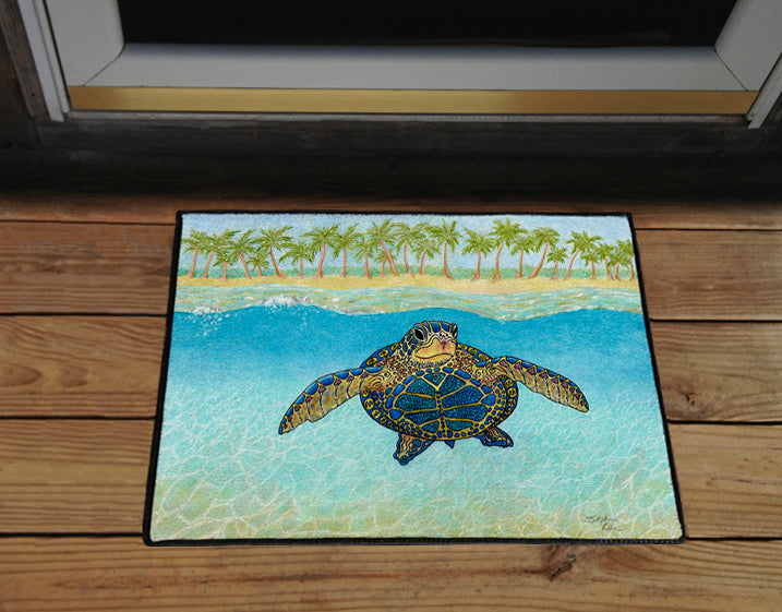 Turtle Paradise Door Mat