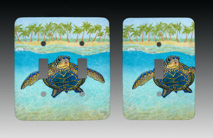 Turtle Paradise Light Switch Cover