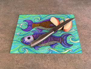 Two Fishes Cutting Board