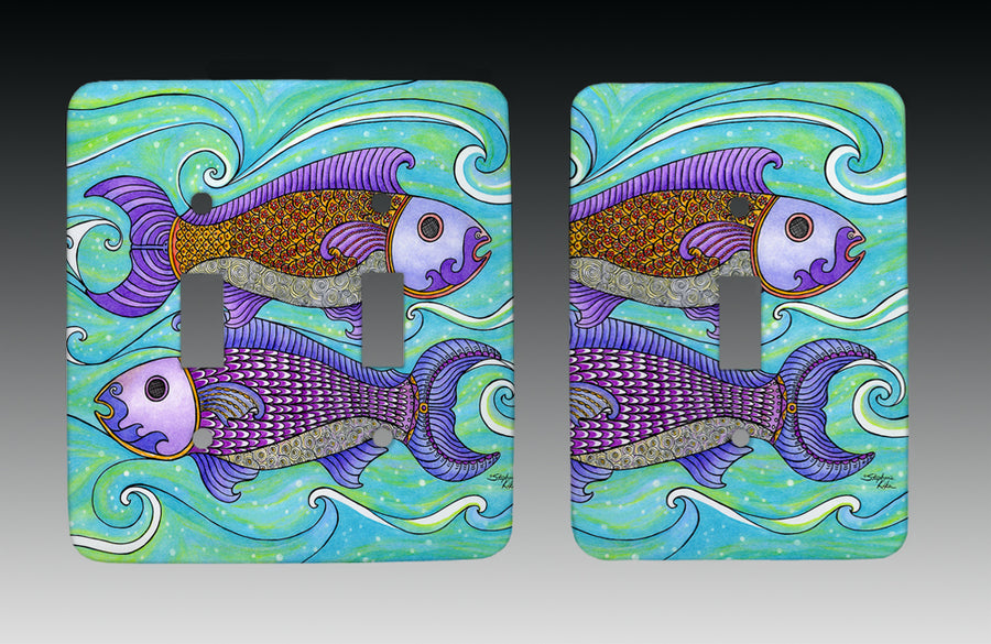Two Fishes Light Switch Cover