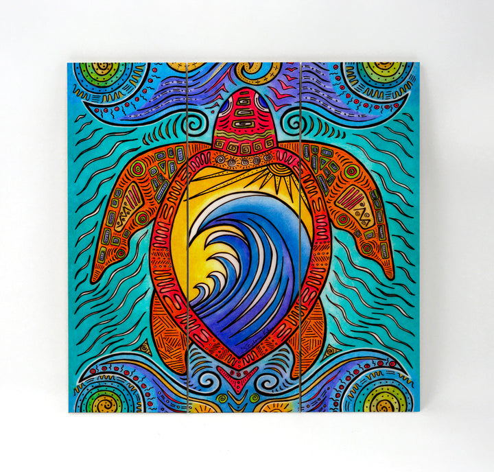 Waves of Turtles Wall Art