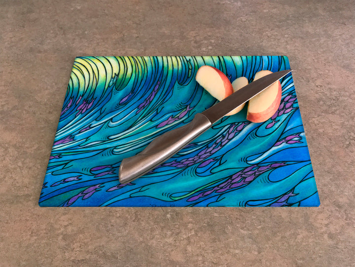 Waves of the Dolphin Cutting Board