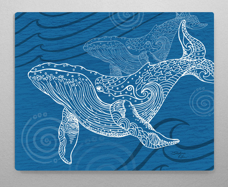 Whale One Color Aluminum Wall Art