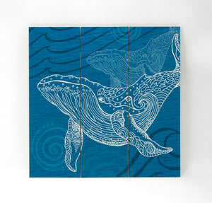 Whale One Color Wall Art