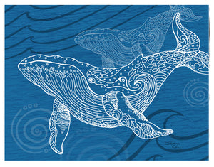 Whale One Color Print