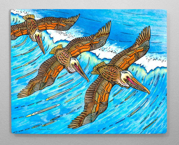 Wings over Waves Aluminum Wall Art