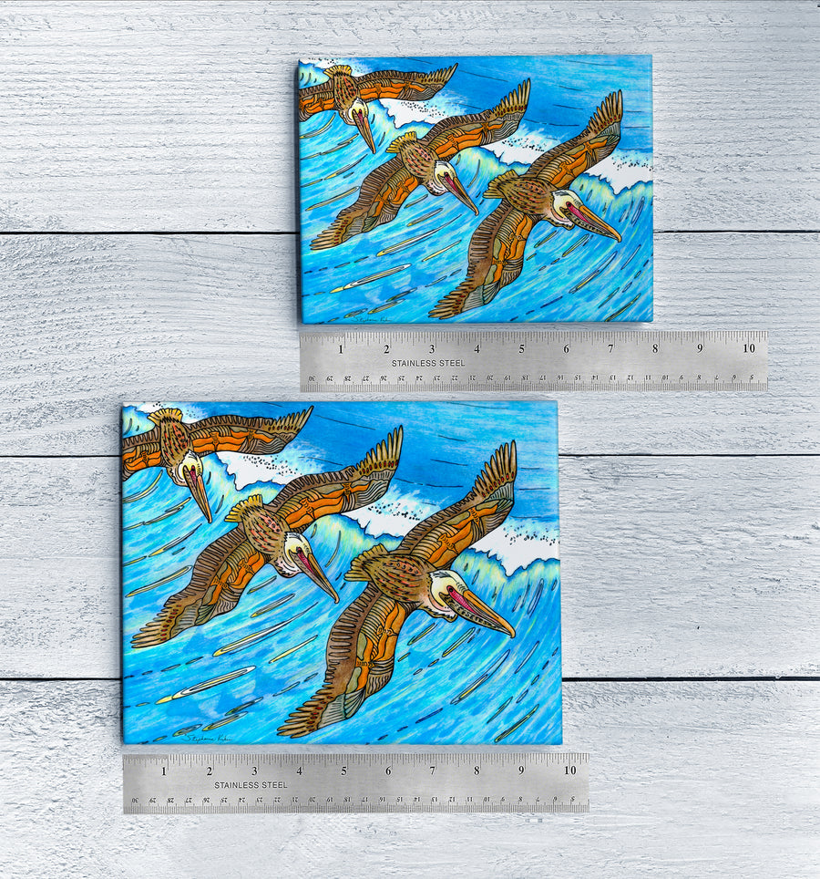 Wings over Waves Ceramic Tile