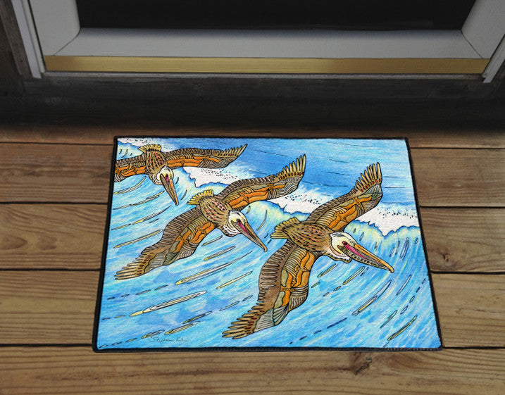 Wings over Waves Door Mat