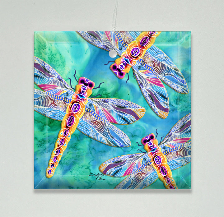 Yellow Dragonflies Ornament/Suncatcher