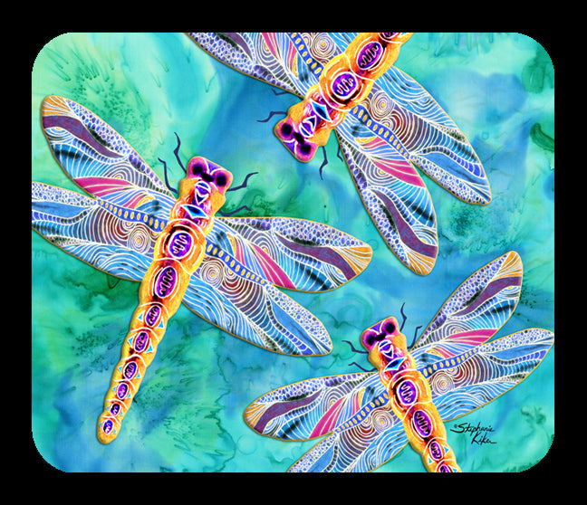 Yellow Dragonflies Mousepad