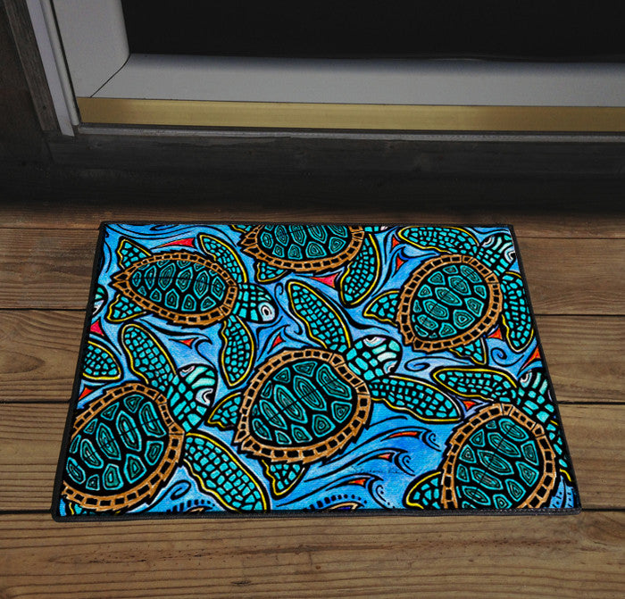 Baby Turtles Door Mat