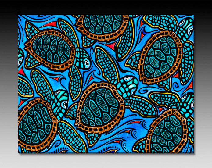 Baby Turtles Ceramic Tile