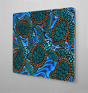 Baby Turtles Aluminum Wall Art
