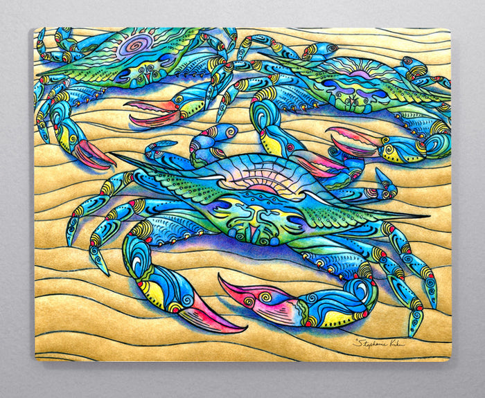 Blue Crab Aluminum Wall Art
