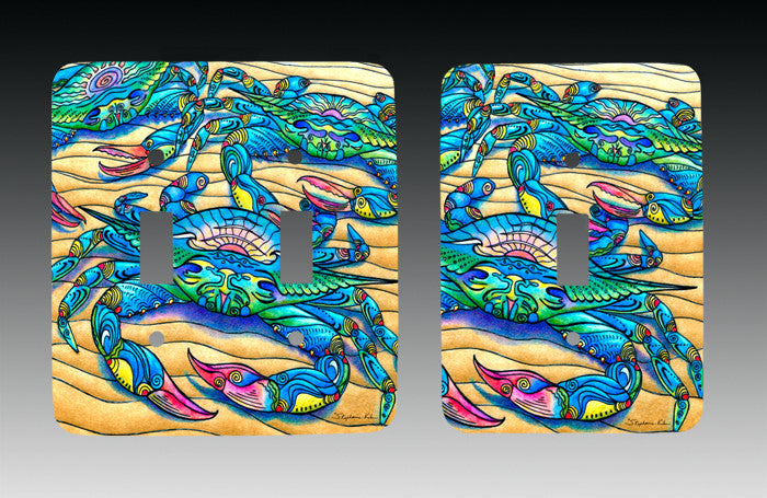 Blue Crabs Light Switch Cover
