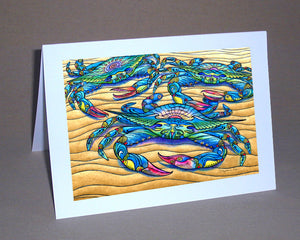 Blue Crabs Notecard