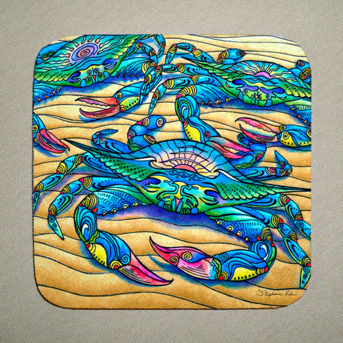 Blue Crabs Coaster