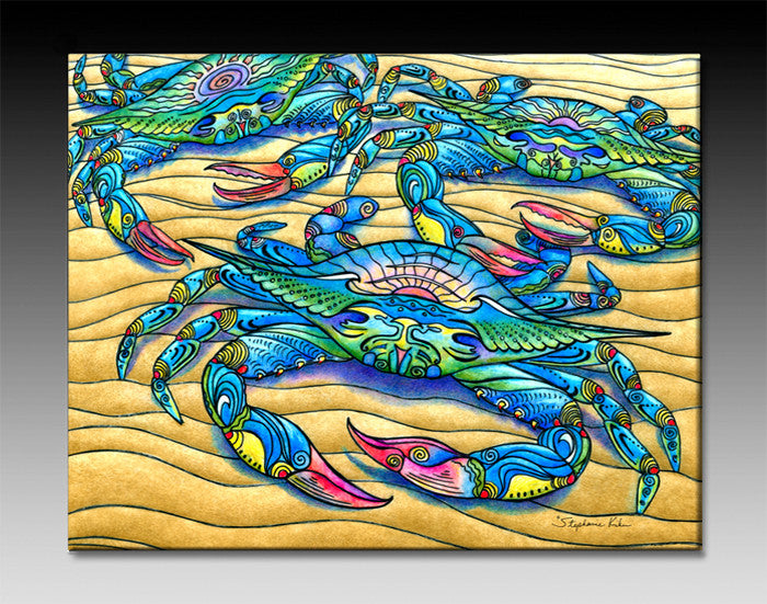 Blue Crabs Ceramic Tile