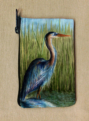 Blue Heron Coin Bag