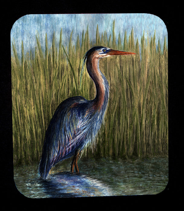Blue Heron Mousepad