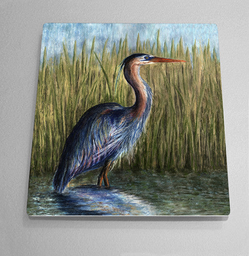 Blue Heron Aluminum Wall Art