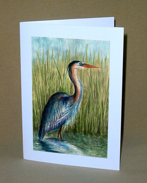 Blue Heron Notecard