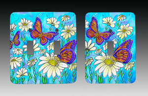 Butterflies on Daisies Light Switch Cover