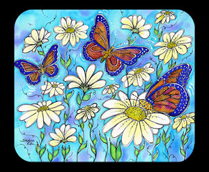 Butterflies on Daisies Mousepad