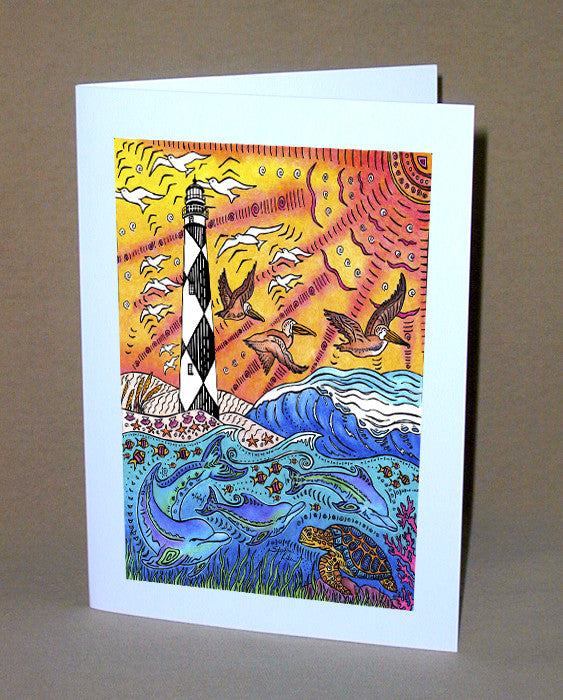 Cape Lookout Notecard