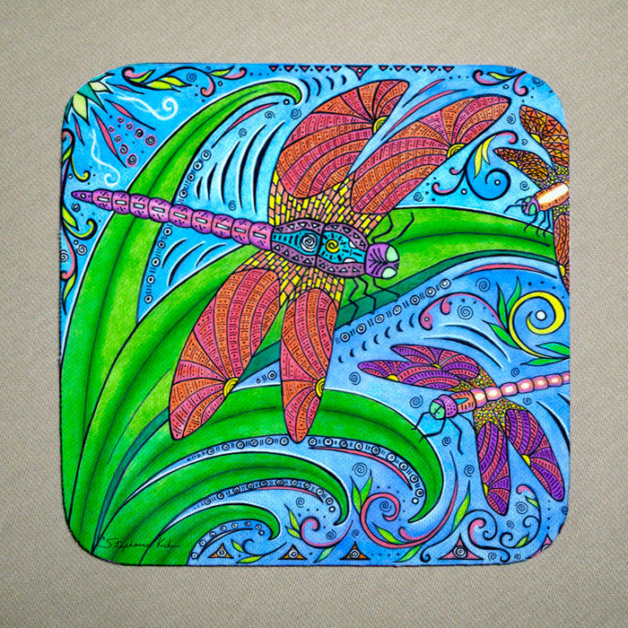 Dancing Dragonflies Coaster