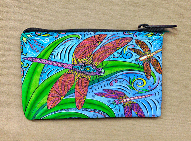 Dancing Dragonflies Coin Bag